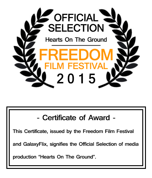 Freedom FIlm Festival Award image Hearts on the Ground