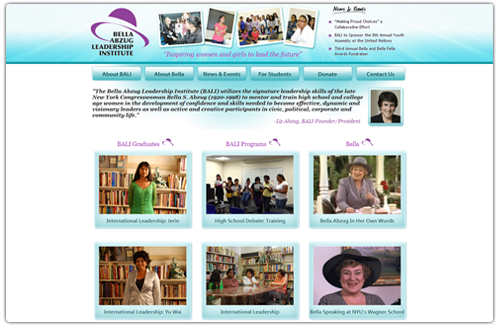 Web Videos & Site for Bella Abzug Leadership Institute